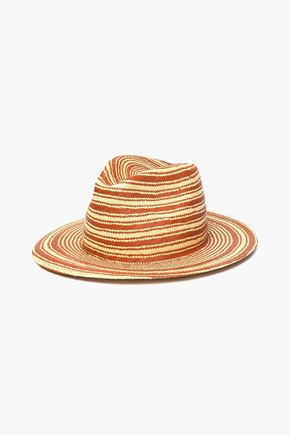 RAG & BONE Striped straw Panama hat