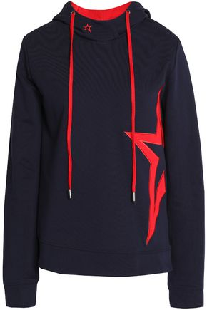 PERFECT MOMENT Embroidered cotton-terry hooded sweatshirt