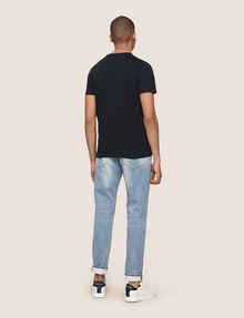ARMANI EXCHANGE A|X SIGNATURE QUOTE CREW Logo T-shirt Man e