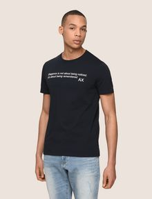 ARMANI EXCHANGE A|X SIGNATURE QUOTE CREW Logo T-shirt Man f