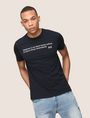 ARMANI EXCHANGE A|X SIGNATURE QUOTE CREW Logo T-shirt Man a