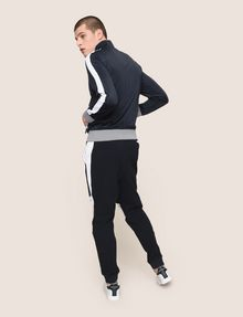 ARMANI EXCHANGE STRIPED TRIM ZIP-UP TRACK JACKET Fleece Jacket Man e