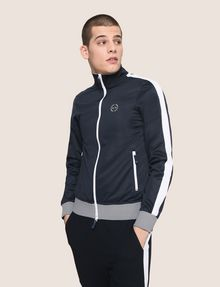 ARMANI EXCHANGE STRIPED TRIM ZIP-UP TRACK JACKET Fleece Jacket Man f