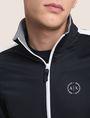 ARMANI EXCHANGE STRIPED TRIM ZIP-UP TRACK JACKET Fleece Jacket Man b