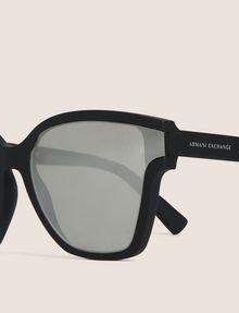 ARMANI EXCHANGE MIRROR MATTE MOD CAT-EYE SUNGLASSES Sunglass Woman d