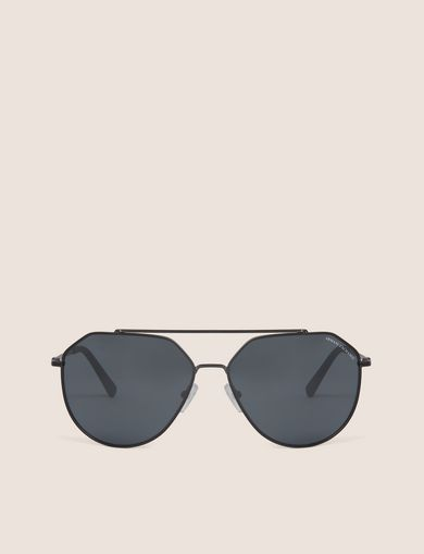 MIRRORED GEO AVIATOR SUNGLASSES