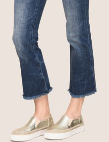 ARMANI EXCHANGE RAW HEM FLARE-CROP JEAN Relaxed Fit Denim Woman b