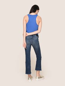 ARMANI EXCHANGE RAW HEM FLARE-CROP JEAN Relaxed Fit Denim Woman e