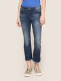 ARMANI EXCHANGE RAW HEM FLARE-CROP JEAN Relaxed Fit Denim Woman f