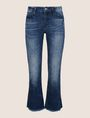 ARMANI EXCHANGE RAW HEM FLARE-CROP JEAN Relaxed Fit Denim Woman r