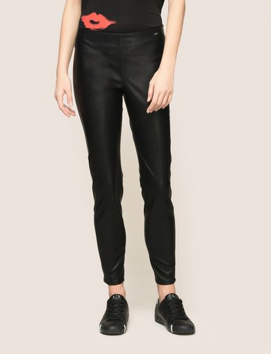 FAUX-LEATHER ZIP DETAIL LEGGING