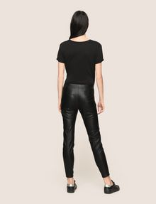 ARMANI EXCHANGE FAUX-LEATHER ZIP DETAIL LEGGING Trouser Woman e