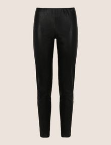ARMANI EXCHANGE FAUX-LEATHER ZIP DETAIL LEGGING Trouser Woman r