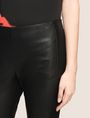 ARMANI EXCHANGE FAUX-LEATHER ZIP DETAIL LEGGING Trouser Woman b