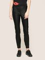 ARMANI EXCHANGE FAUX-LEATHER ZIP DETAIL LEGGING Trouser Woman f