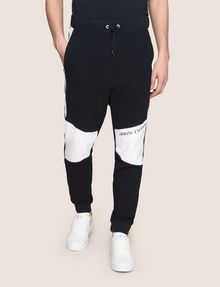 ARMANI EXCHANGE LOGO KNEE-PATCH JOGGER Fleece Pant Man f