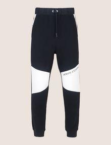 ARMANI EXCHANGE LOGO KNEE-PATCH JOGGER Fleece Pant Man r