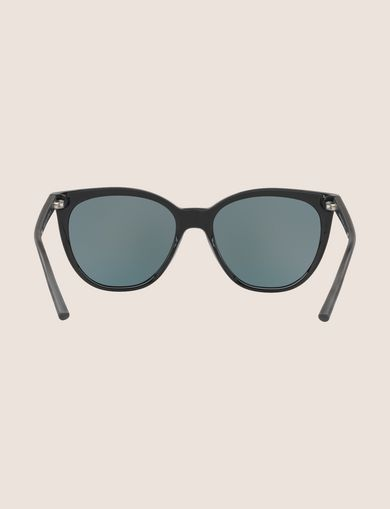 MIRRORED LENS WINGED SUNGLASSES