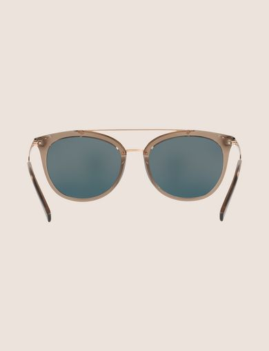 TRANSPARENT CAT-EYE AVIATOR SUNGLASSES