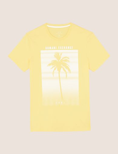 OMBRE PALM PRINT TEE