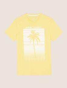 ARMANI EXCHANGE パームツリープリント Tシャツ ロゴTシャツ メンズ r