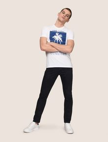 ARMANI EXCHANGE OMBRE PALM PRINT TEE Logo T-shirt Man d