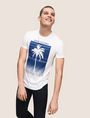 ARMANI EXCHANGE OMBRE PALM PRINT TEE Logo T-shirt Man a