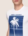 ARMANI EXCHANGE OMBRE PALM PRINT TEE Logo T-shirt Man b