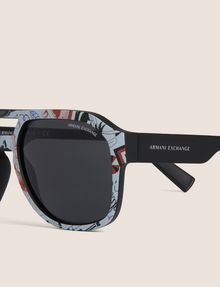 ARMANI EXCHANGE STREET ART SERIES LESJEANCLODE AVIATOR Sunglass Man d