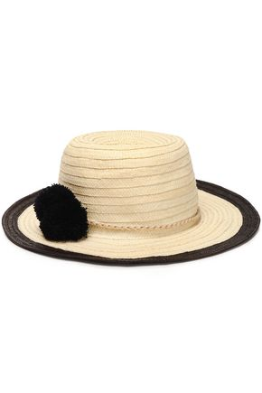 SOPHIE ANDERSON Pompom-embellished straw sunhat