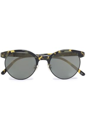 OLIVER PEOPLES Round-frame acetate and metal sunglasses