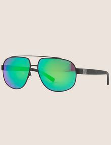 ARMANI EXCHANGE GREEN MIRROR AVIATOR SUNGLASSES Sunglass Man e