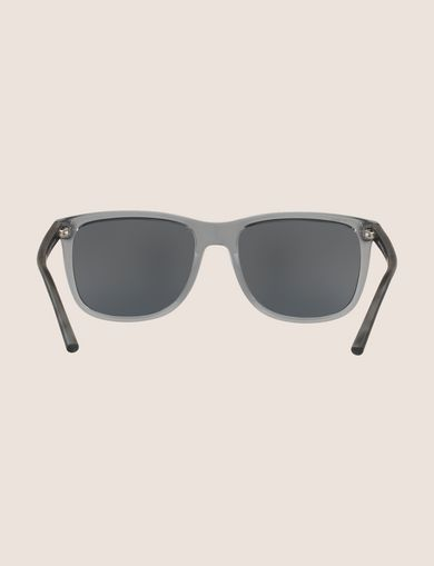 TRANSPARENT GREY MIRROR CLASSIC SUNGLASSES