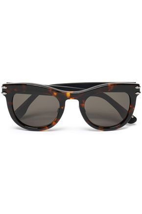 ROLAND MOURET Cat-eye tortoiseshell acetate and silver-tone sunglasses