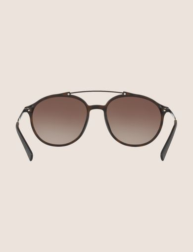MATTE HAVANA ROUNDED AVIATOR SUNGLASSES