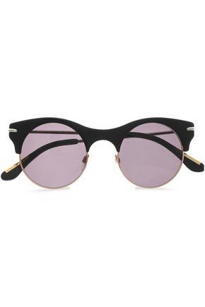 ROLAND MOURET Round-frame acetate sunglasses