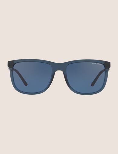 TRANSPARENT BLUE CLASSIC SUNGLASSES