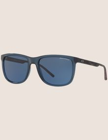 ARMANI EXCHANGE TRANSPARENT BLUE CLASSIC SUNGLASSES Sunglass Man e