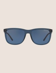 ARMANI EXCHANGE TRANSPARENT BLUE CLASSIC SUNGLASSES Sunglass Man f