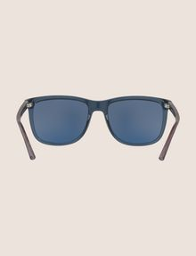 ARMANI EXCHANGE TRANSPARENT BLUE CLASSIC SUNGLASSES Sunglass Man r