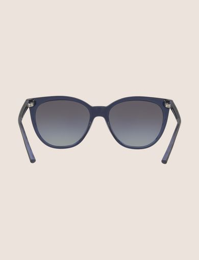 TRANSPARENT BLUE WINGED SUNGLASSES