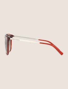 ARMANI EXCHANGE TRANSPARENT RED CAT-EYE AVIATOR SUNGLASSES Sunglass Woman d