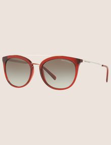 ARMANI EXCHANGE TRANSPARENT RED CAT-EYE AVIATOR SUNGLASSES Sunglass Woman e