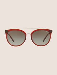 ARMANI EXCHANGE TRANSPARENT RED CAT-EYE AVIATOR SUNGLASSES Sunglass Woman f