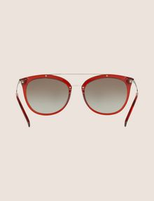 ARMANI EXCHANGE TRANSPARENT RED CAT-EYE AVIATOR SUNGLASSES Sunglass Woman r