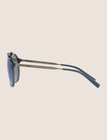 ARMANI EXCHANGE TRANSPARENT MIRROR ROUNDED AVIATOR SUNGLASSES Sunglass [*** pickupInStoreShippingNotGuaranteed_info ***] d