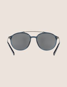 ARMANI EXCHANGE TRANSPARENT MIRROR ROUNDED AVIATOR SUNGLASSES Sunglass [*** pickupInStoreShippingNotGuaranteed_info ***] r