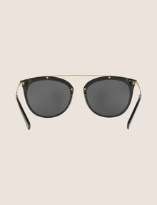 ARMANI EXCHANGE SHINY BLACK CAT-EYE AVIATOR SUNGLASSES Sunglass Woman r