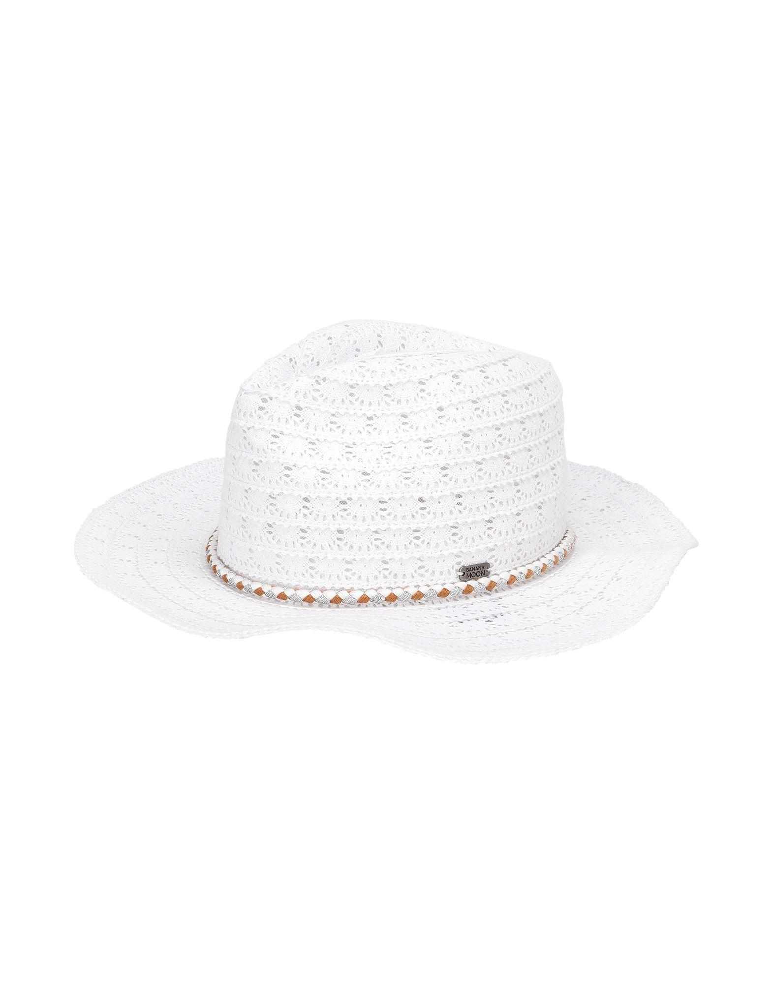 《セール開催中》BANANA MOON レディース 帽子 ホワイト I コットン 100% HATSY