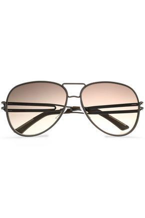 ROLAND MOURET Aviator-style gunmental-tone sunglasses